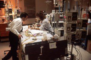 Executivo acompanha operação na mesa de cirurgia de hospital